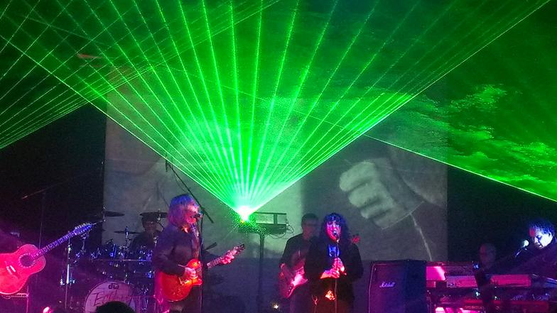 laser lighting and visuals for Pink Floyd Tribute