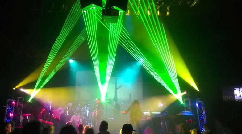 Lasers rock the show