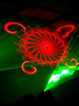 Laser choreography by Nth Degree Creative, as the images and laser beams synchronize to the music
