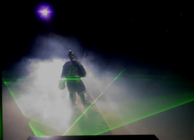 Everett Silvertips Hockey Home Opener effects with laser, cryo fog and LED's