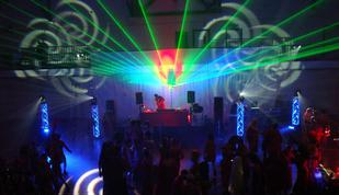 Seattles Gay community celebrates at the annual Red Dress party, featuring set dressing, lighting, laser, image projection and production design by Nth Degree Creative