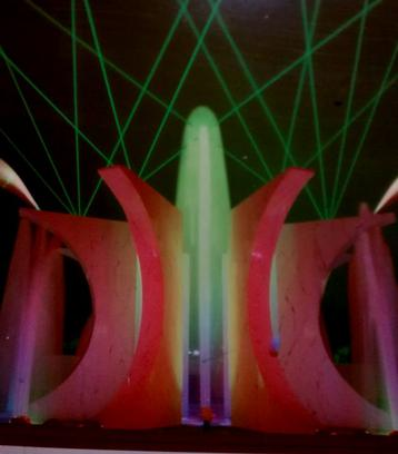 The Lumenaria fountain designed and produced by Jeff Silverman for Laser Fantasy 1992-1998