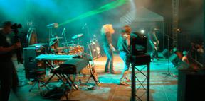 Laser and lighting for No Quarter, The Led Zeppelin Experience