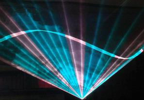 Aqua theme laser sky designed for New Monsoon concert Seattle WA 2009