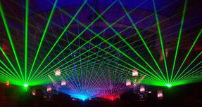 laser beams at music festival